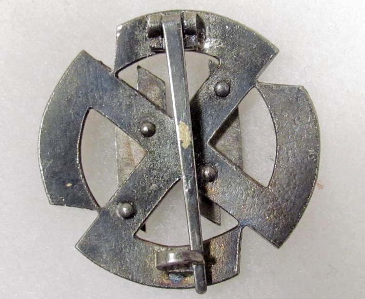 106: Nazi German SS Enameled Badge - 2