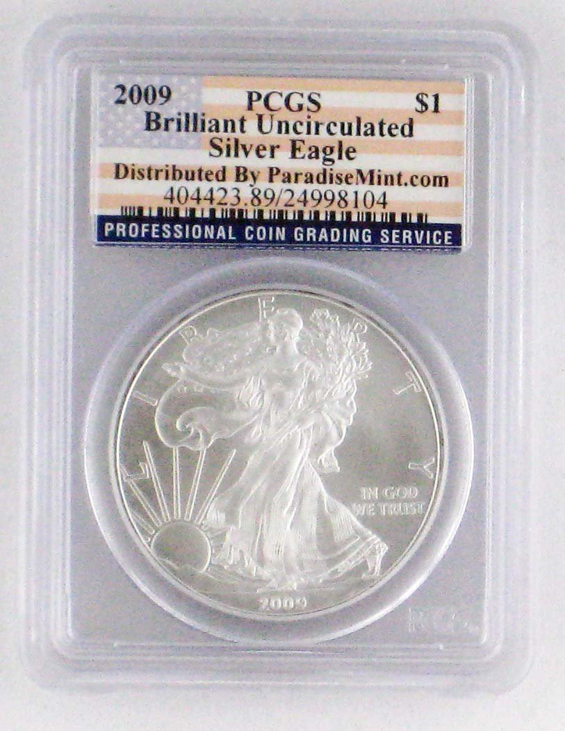 8: 2009 Uncirculated Silver American Eagle PCGS