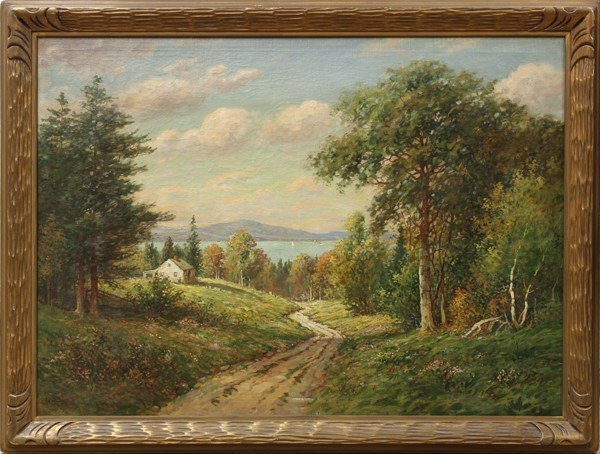 108: AUTUMN IN THE BERKSHIRES OIL ON CANVAS BY WILLIAM