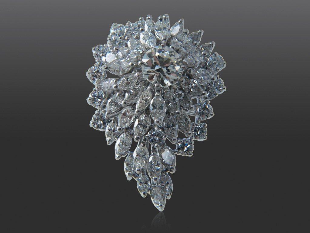 184: DIAMOND COCKTAIL RIN, 6.50CTW.
