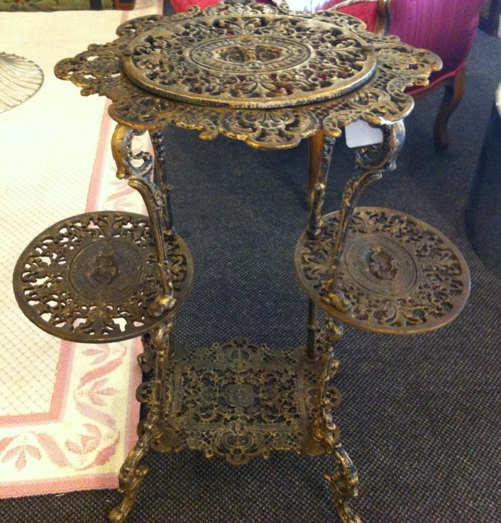 2: Brass table, three tier