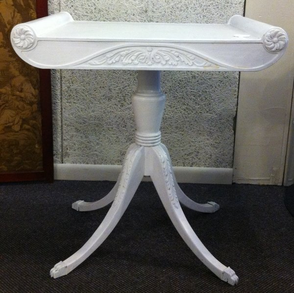 4: Pair of white tables