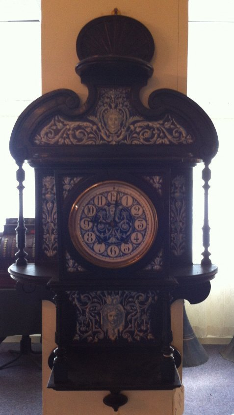 10: Wood and enamel French clock