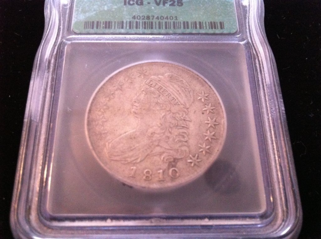 257: 1810 Capped Bust Half Dollar
