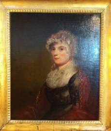 88: Oil on Canvas, Attributed To Gilbert Stuart, Miss C