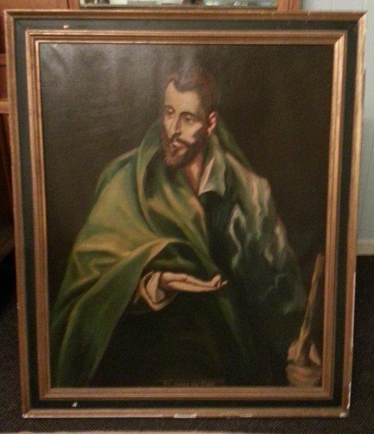 7: Oil on Canvas, St James the Elder.
