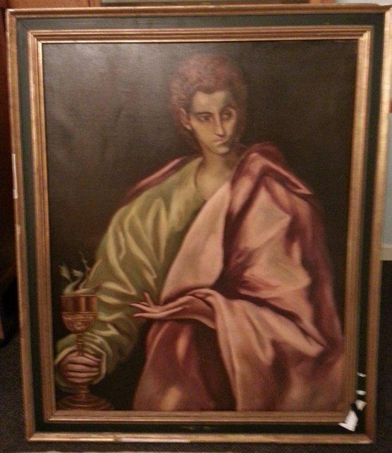 8: Oil on Canvas, St. John the Evangelist