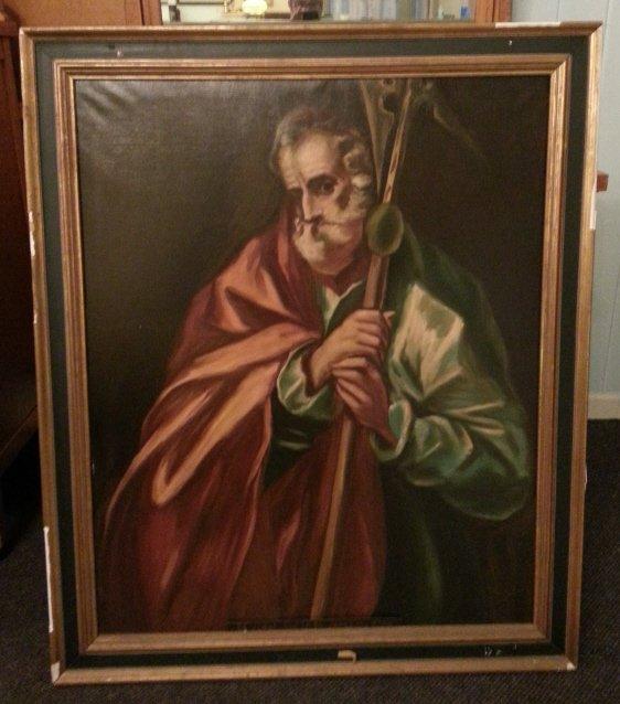 9: Oil on Canvas, St Judas Thadeus
