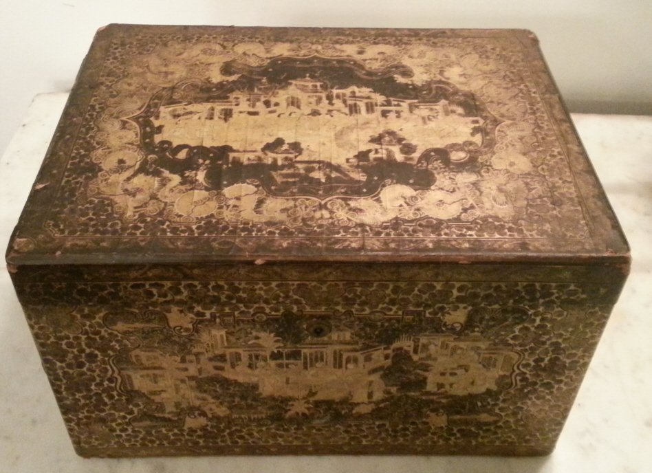 14: Chinese Pewter Lined Tea Box
