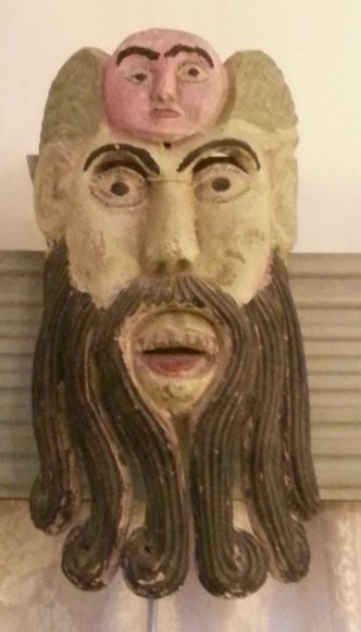 20: Hand Carved and Painted Wooden Mask