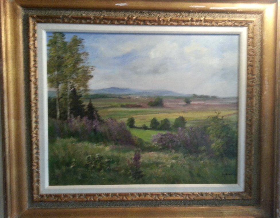 "22: Oil on Canvas, ""Impressionist Landscape"""