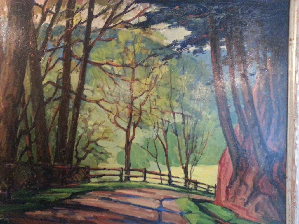 """23: Oil on Board, """"Landscape"""""""