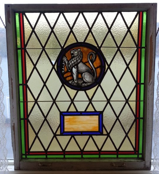 25: Stained Glass Window of Lion of Judah
