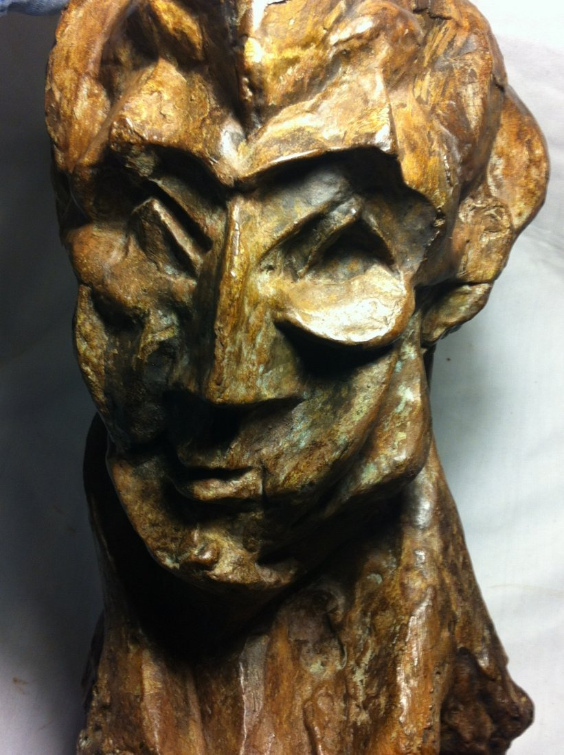 127: Bronze Bust  of a Woman, Picasso, Signed