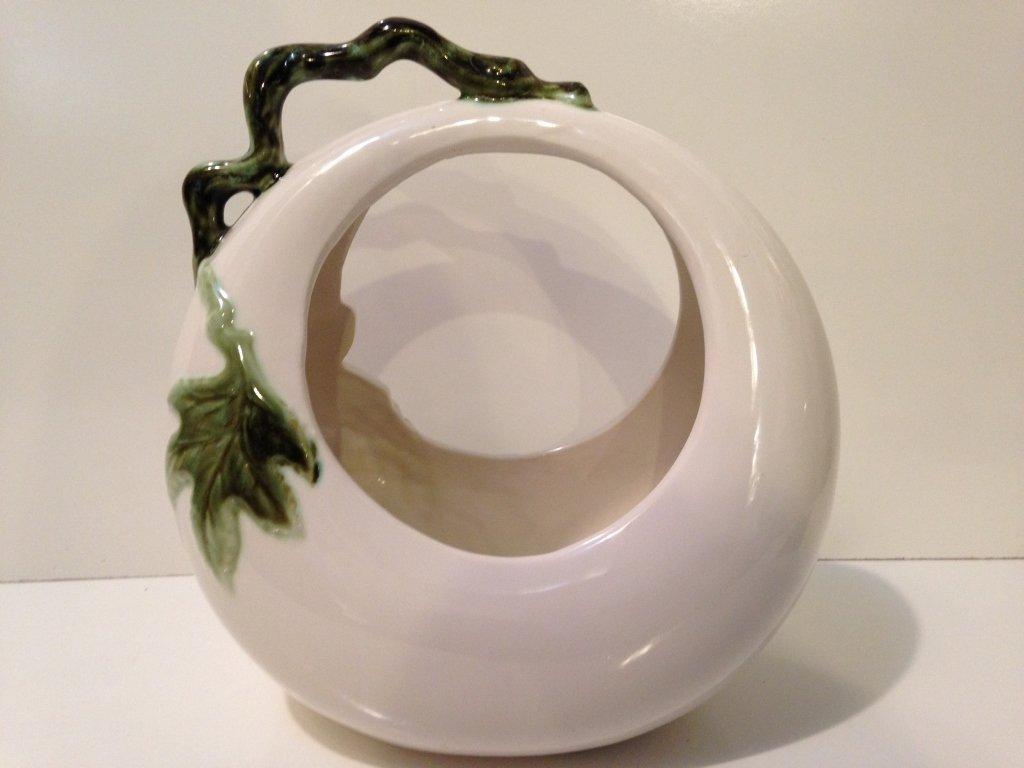 Johay Hull Art Pottery Basket - 4