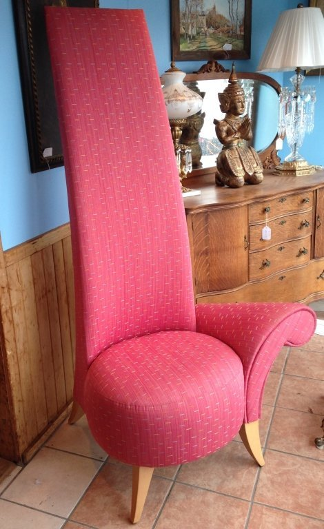 One Armed La Diva Chair with High Back