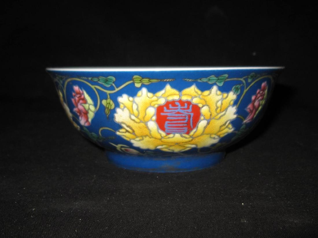 Chinese Kangxi enemal glaze bowl
