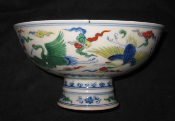Chinese Chenghua doucai  high foot big bowl