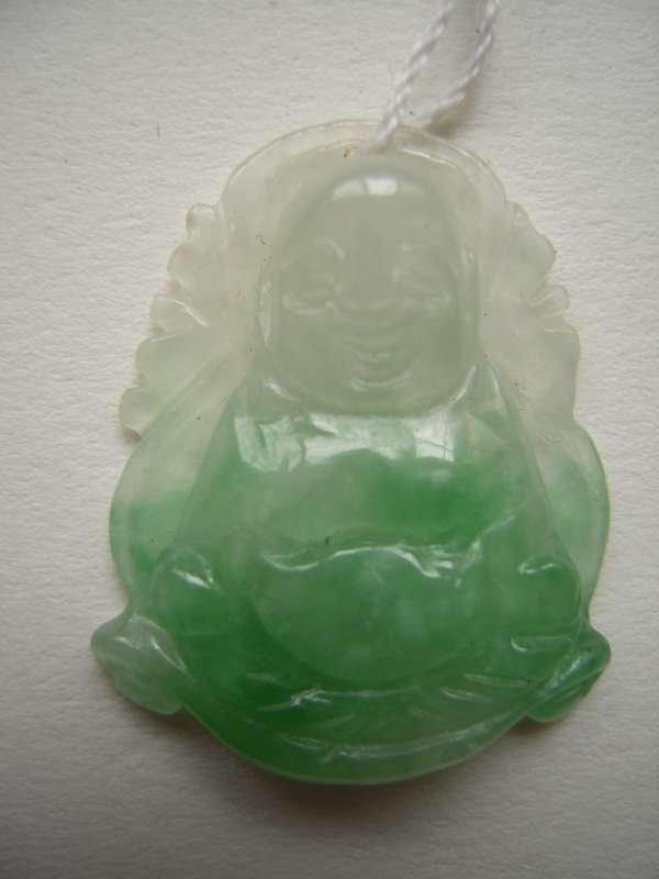 Chinese Ice Jadeite jade Pendant Happy Buddha