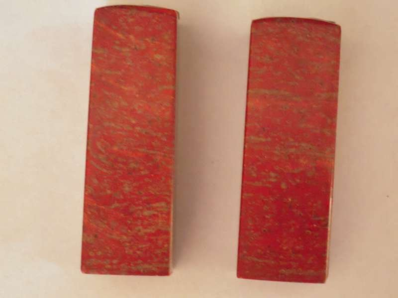 Pair Chinese Chicken Blood Seal