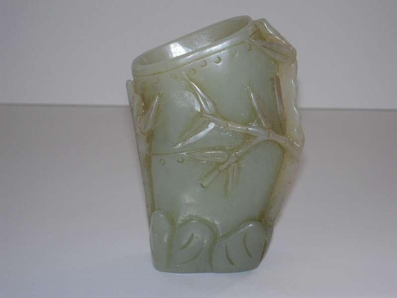 Chinese Jade Carved Brush Pot