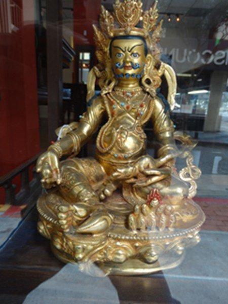 Sittng gilt bronze  Buddha figure