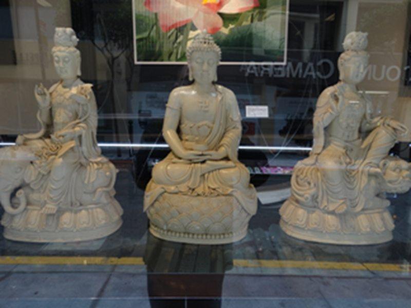 Chinese 3 Dehua kiln  Guanyi Buddha /set of 3
