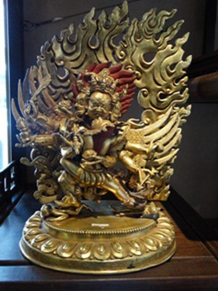 Gilt Bronze Buddha Figure 冥王像