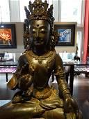 MING DYNASTY Buddha of  Gilt Eye in Hand Sitting Gunyin