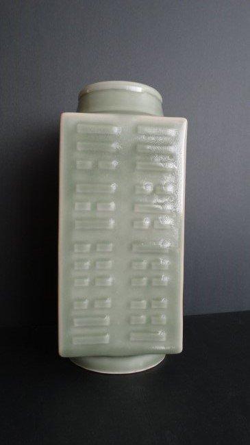 Chinese QienLong Mark Celadon Chueng Type Vase