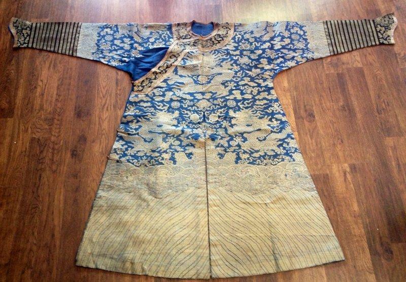 Qing Dynasty Dragon Robe (Blue Back Ground)