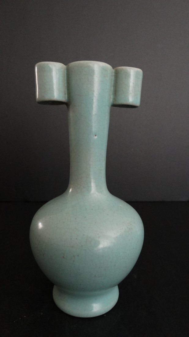 Chinese Ru Type Vase with 2 Ears