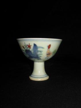 Chenghua Doucai High Foot Chicken Cup Chic成
