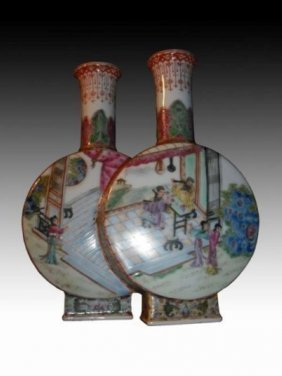Chinese Qianlong Famille Rose Two-bottle 乾