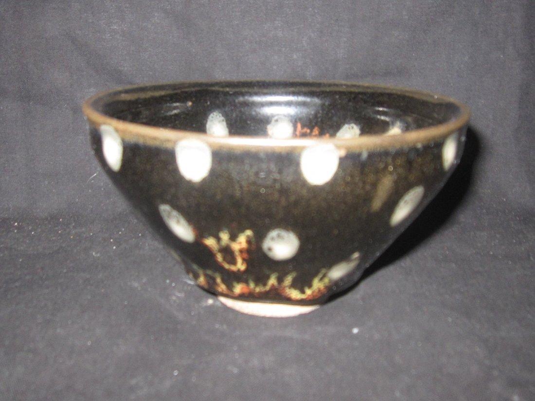 Chinese  Cizhou black glaze  tea cup 磁州