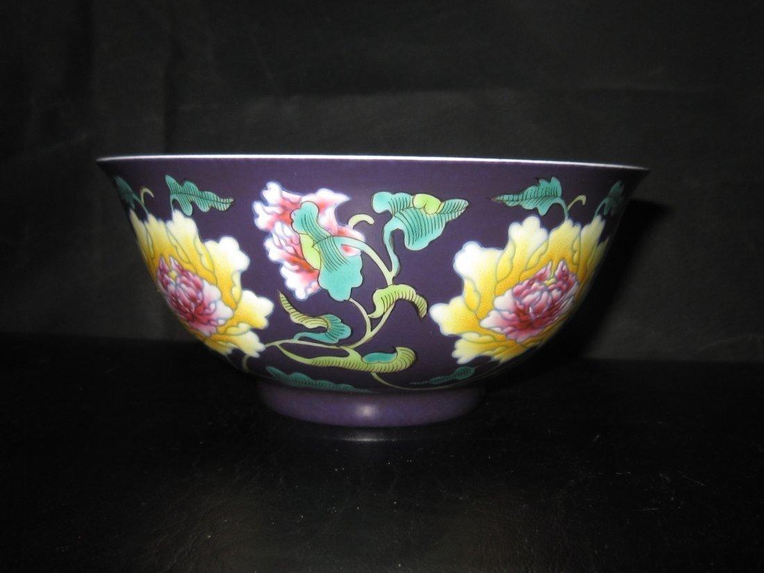 """Chinese Kangxi  a enemal bowl    D:6"""" - 4"""