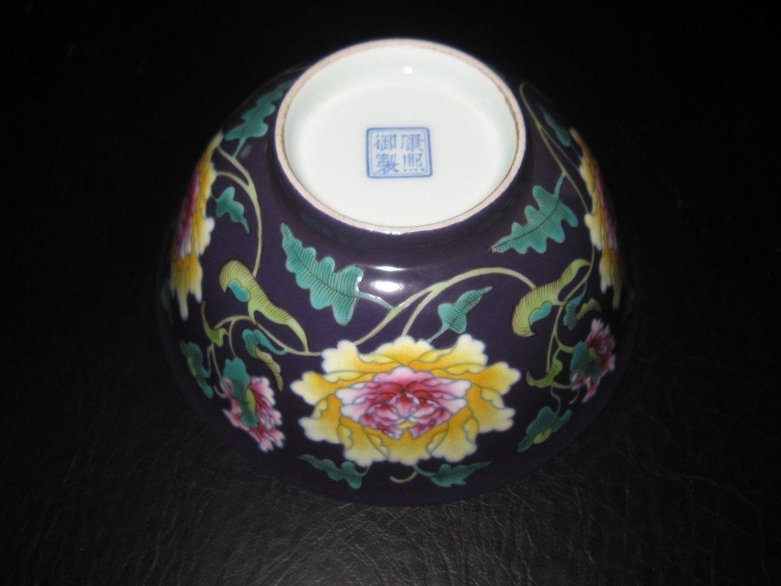 """Chinese Kangxi  a enemal bowl    D:6"""" - 5"""
