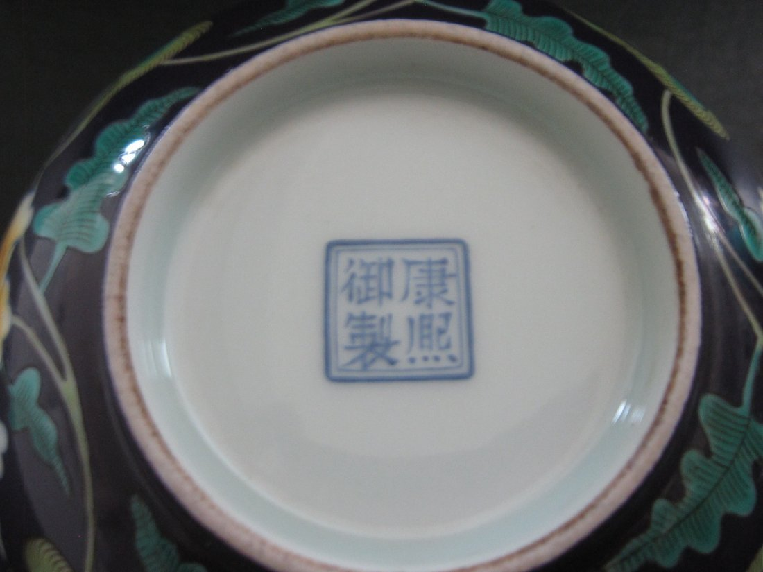 """Chinese Kangxi  a enemal bowl    D:6"""" - 6"""