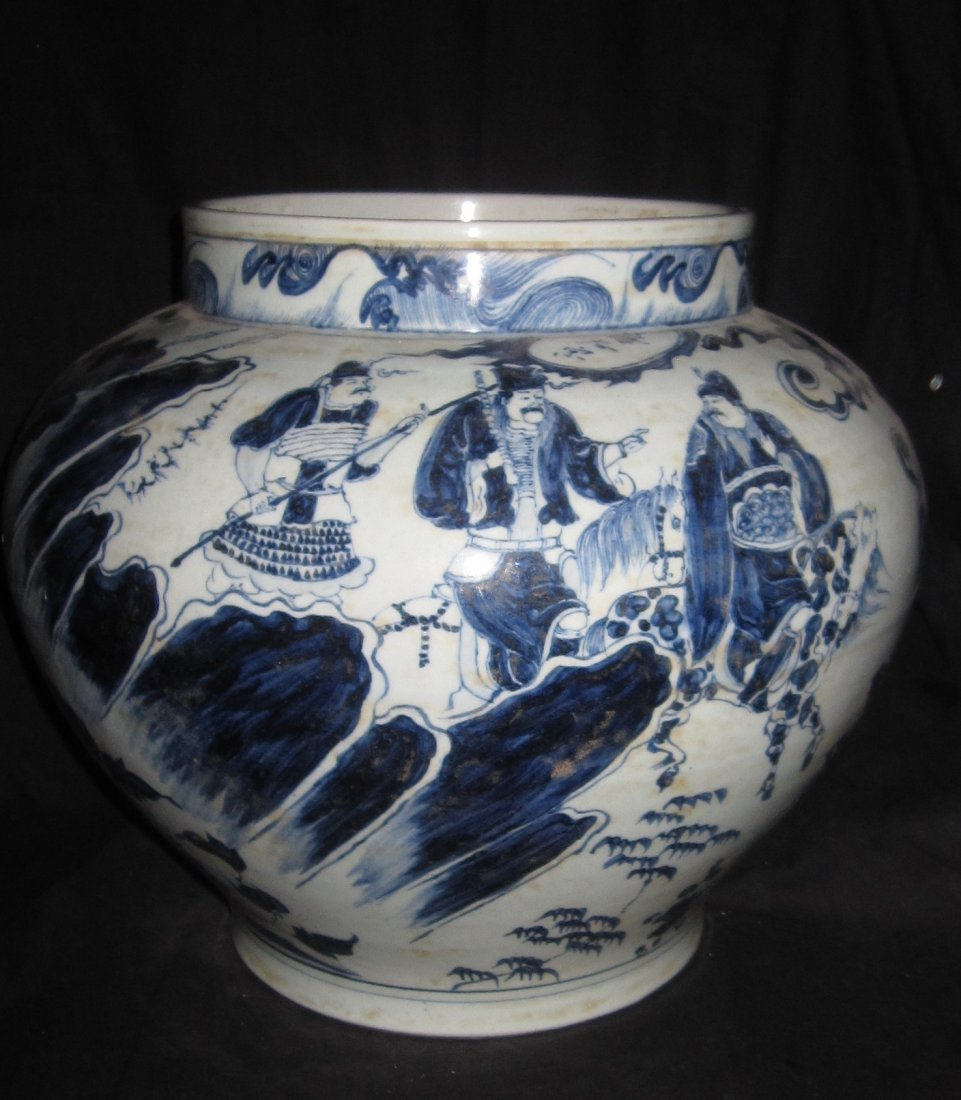 blue & white big jar - 6