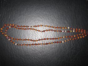 Chinese Agate Beads Strand