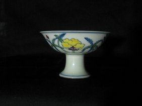 Chinese Chenghua Palace High Foot Cup
