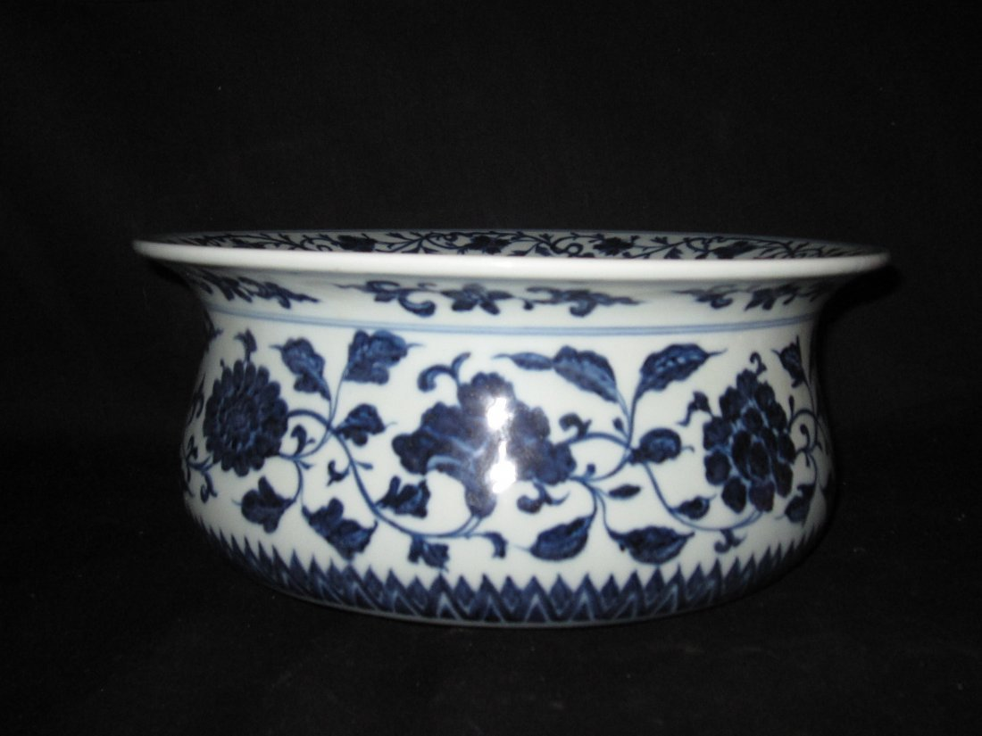 Yongle blue and white big bowl with mark