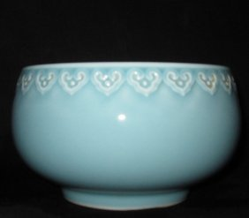Chinese Fengqing bowl with mark of qienglong