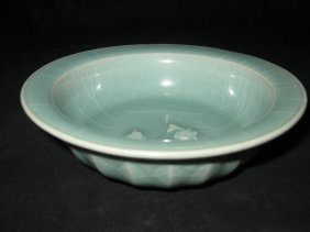 Chinese longchun celaden bowl with 2 fish