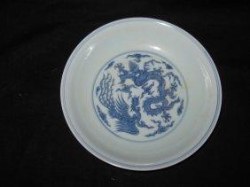 Chinese chenghua blue & white plate