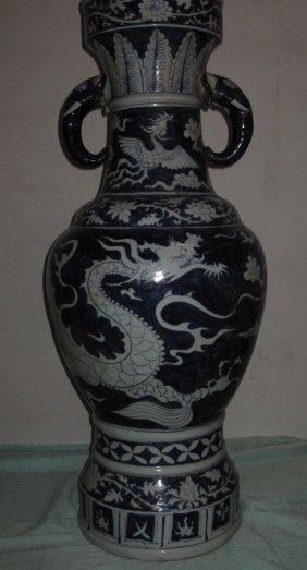 Chinese yuan dynasty elephont ears  large vase