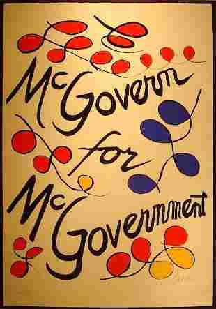 "Alexander Calder, ""McGovern for McGovernment"""
