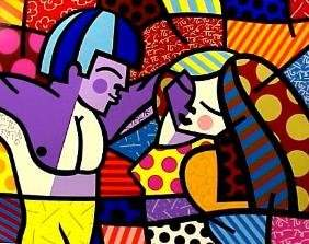 """Romero Britto, """"First Love"""""""