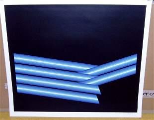 """Axel Dick Silkscreen """"Neon Komposition"""""""