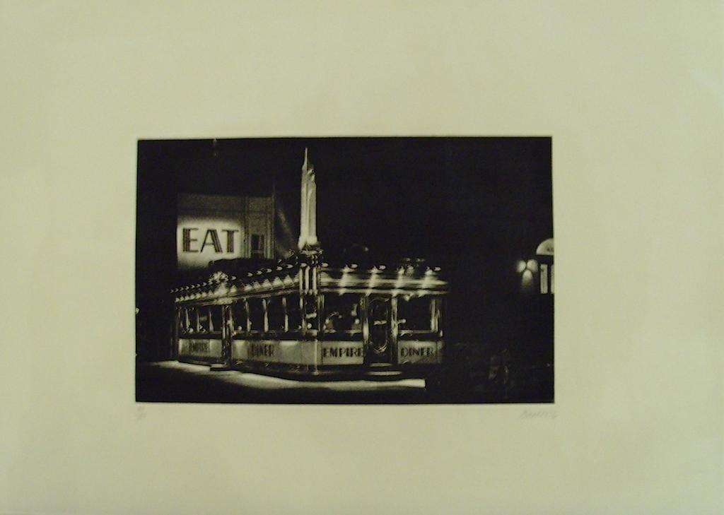"""John Baeder, """"Empire Diner"""""""